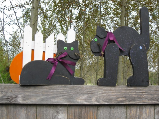 wooden halloween decorations